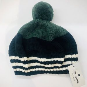 🆕 KATE SPADE women's knit hat with pompom